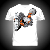T-SHIRT METAL VIKING BENCHPRESS